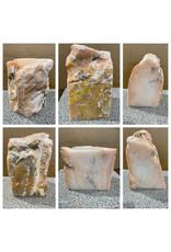 62lb Peach Translucent Alabaster 12x8x8 #251097