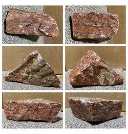 Stone 20lb Red Raspberry Alabaster 10x8x4 #161083