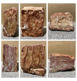 Stone 28lb Red Raspberry Alabaster 10x7x4 #161080