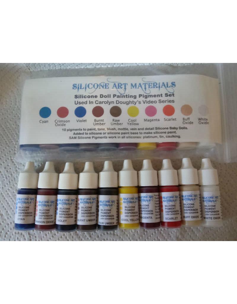 SAM Silicone Doll Painting Pigment Set 7ml 10pc Set