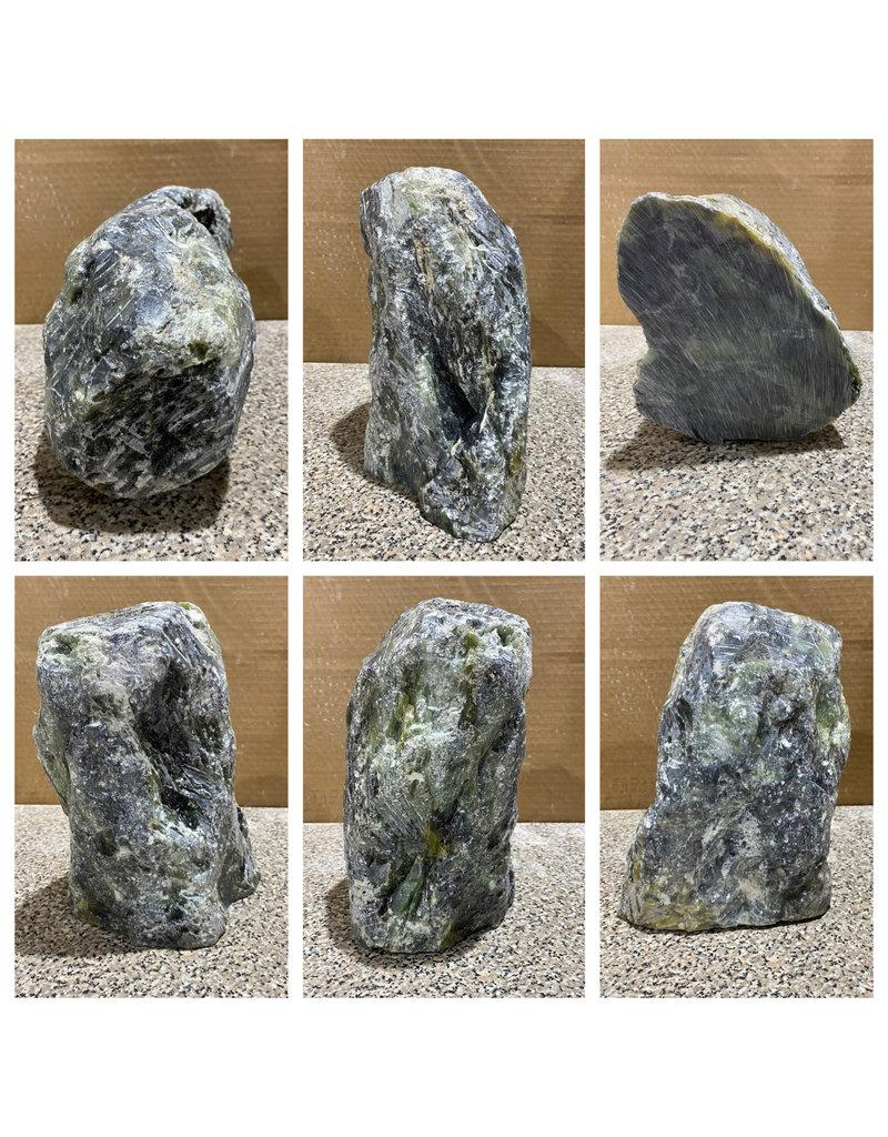 Stone 21lb Deep Green Soapstone 10x6x6 #422304