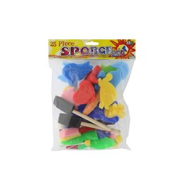 Art Advantage Sponge Shapes Rollers & Brushes 25pc