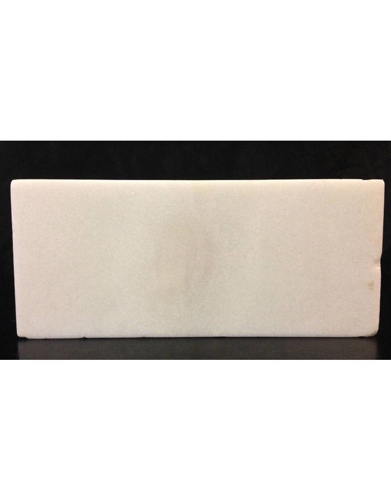 Stone 6lb Chinese White Marble Slab 16x7x0.5 #44333222
