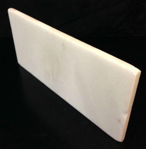Stone 6lb Chinese White Marble Slab 16x7x0.5 #44333222