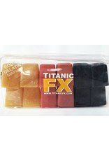 Titanic FX TITANIC FX PROSTHETIC GELATIN - BODY COLOURS SAMPLE PACK - INCLUDES BLOOD, MUSCLE & FAT TONES (1KG)