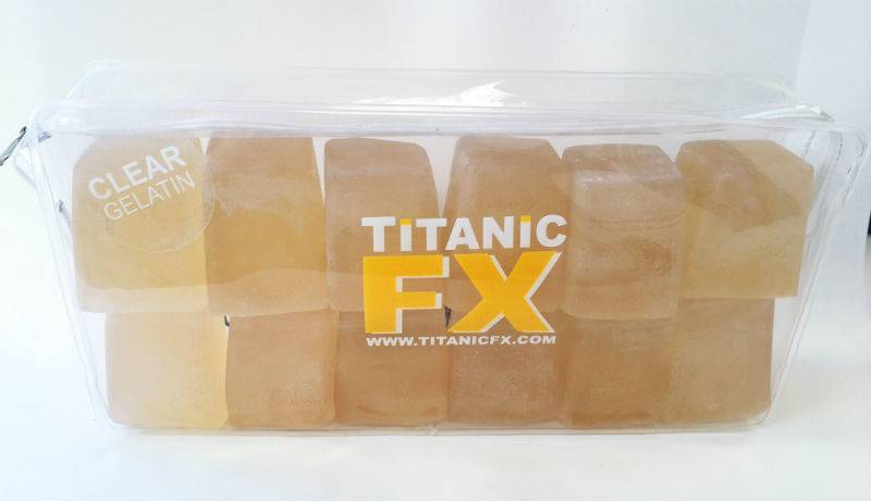 Titanic FX TITANIC FX PROSTHETIC GELATIN - CLEAR/UN-COLOURED (1KG)
