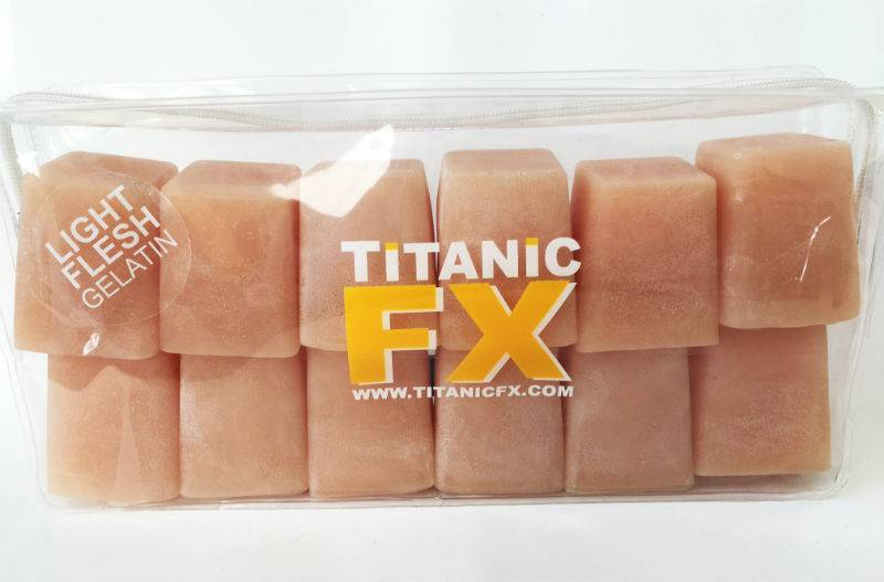 Titanic FX TITANIC FX PROSTHETIC GELATIN - Light FLESH COLOUR (1KG)