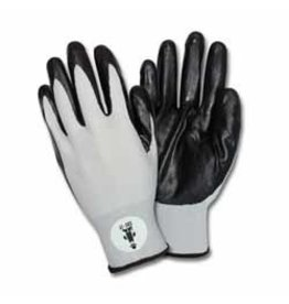Just Sculpt Black Nitrile Coated Nylon Gloves (Pack of 12 Pairs)