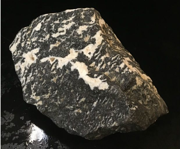 Stone 33lb White Tiger Marble 9x9x5 #401012