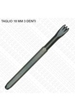 Milani Carbide Hand 3 Tooth Chisel 18mm