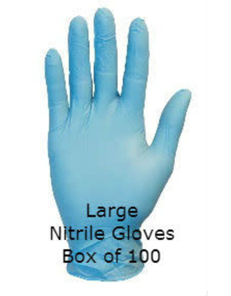 Gloveworks Nitrile Gloves Blue Industrial Powdered Large Box