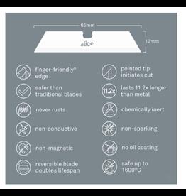 SLICE Ceramic Utility Knife Blades (Pointed Tip) 10 Pack