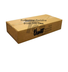 Chavant Chavant Professional Plasteline Brown 50lb Case (10lb Blocks)