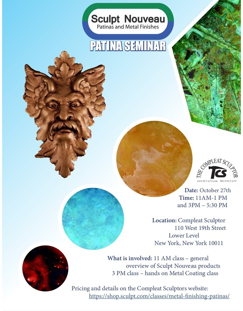 211027 Sculpt Nouveau 2.5 Hour Resin Casting and Metal Coatings October 27th 3-5:30pm