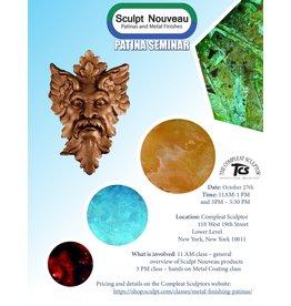 211027 Sculpt Nouveau Patina Overview October 27th 11am-1pm