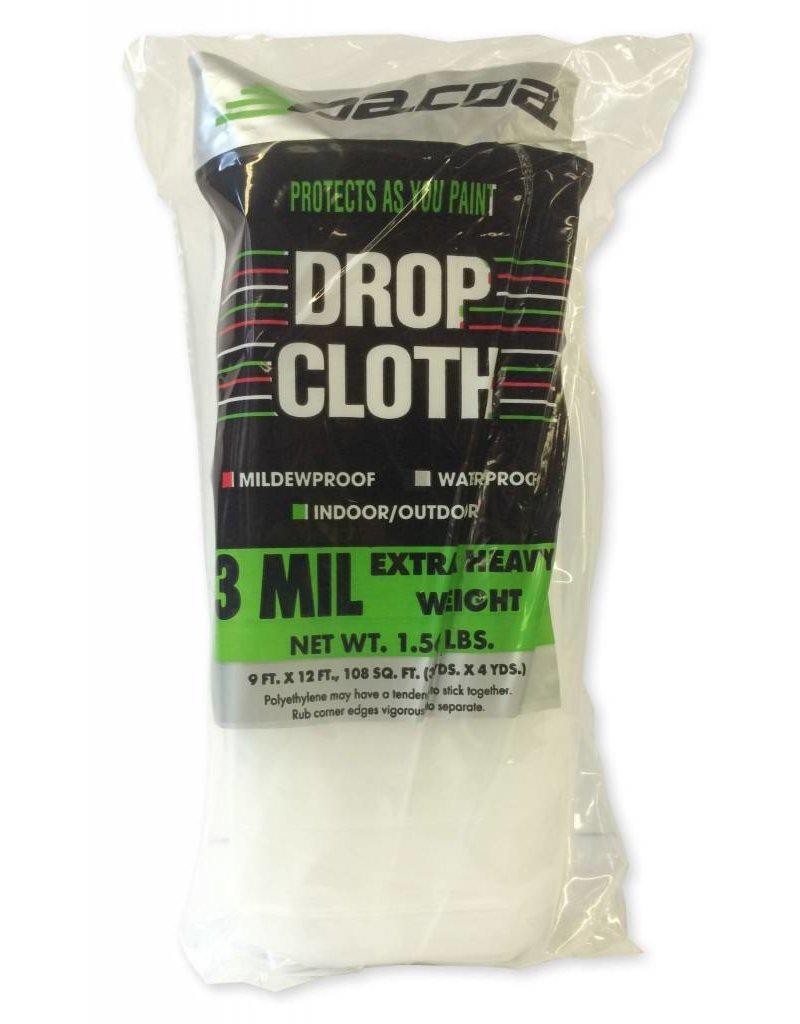 Just Sculpt Plastic Drop Cloth 3Mil 9'x12'