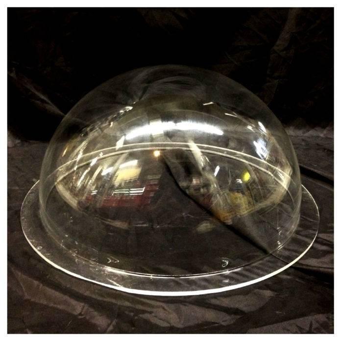 "Plexiglass Dome Clear 16"" Dia 1/4"" Thick"