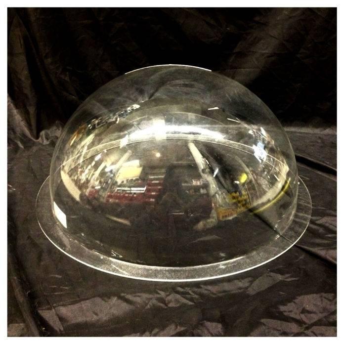 "Just Sculpt Plexiglass Dome Clear 18"" Dia 1/8"" Thick"
