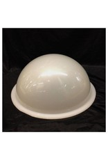 "Just Sculpt Plexiglass Dome Milky 16"" Dia 1/4"" Thick"