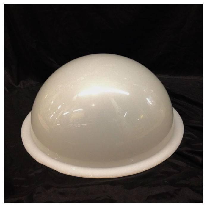 "Just Sculpt Plexiglass Dome Milky 16"" Dia 1/4"" Thick"