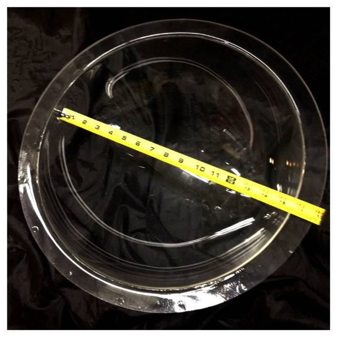 "Just Sculpt Plexiglass Dome Clear 16"" Dia 1/8"" Thick"
