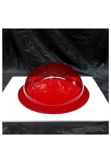 "Plexiglass Dome Clear Red 12"" Dia 1/4"" Thick"