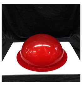 "Plexiglass Dome Frosted Red 12"" Dia 1/8"" Thick"