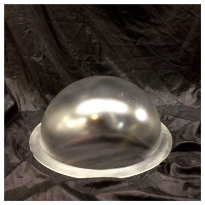 """Plexiglass Dome Frosted 12"""" Dia 1/8"""" Thick"""
