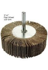 Aluminum Oxide Flap Wheel 3''x1'' 120 grit