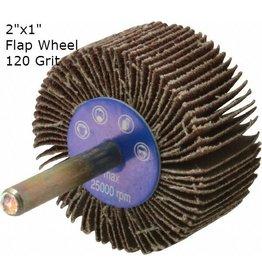 Aluminum Oxide Flap Wheel 2''x1'' 120 grit
