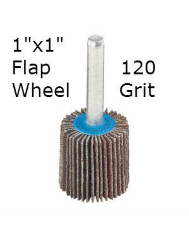 Aluminum Oxide Flap Wheel 1''x1'' 120 grit