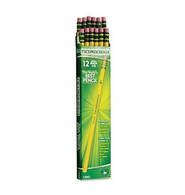 Ticonderoga Wood-Cased Pencils, #2 HB, Yellow, Box of 12
