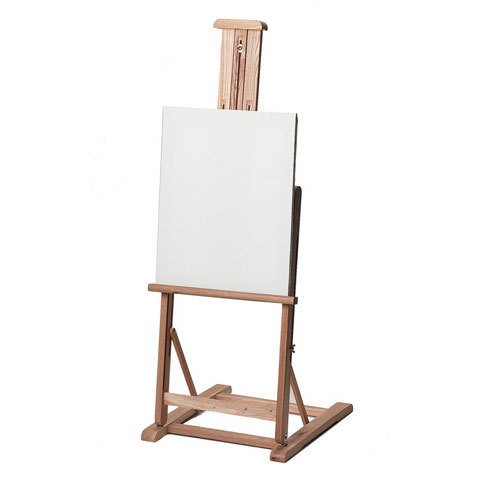 Table Top Studio Easel - Wood - Adjustable Shelf - Extends to 18 x 58 inches
