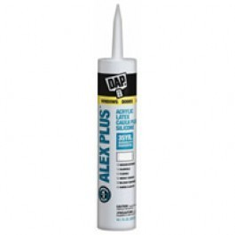 Alex Clear Acrylic Latex Caulk Plus Silicone 10.1oz
