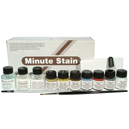 Just Sculpt Minute Stain Dental Acrylic 7 color Kit 1/4oz