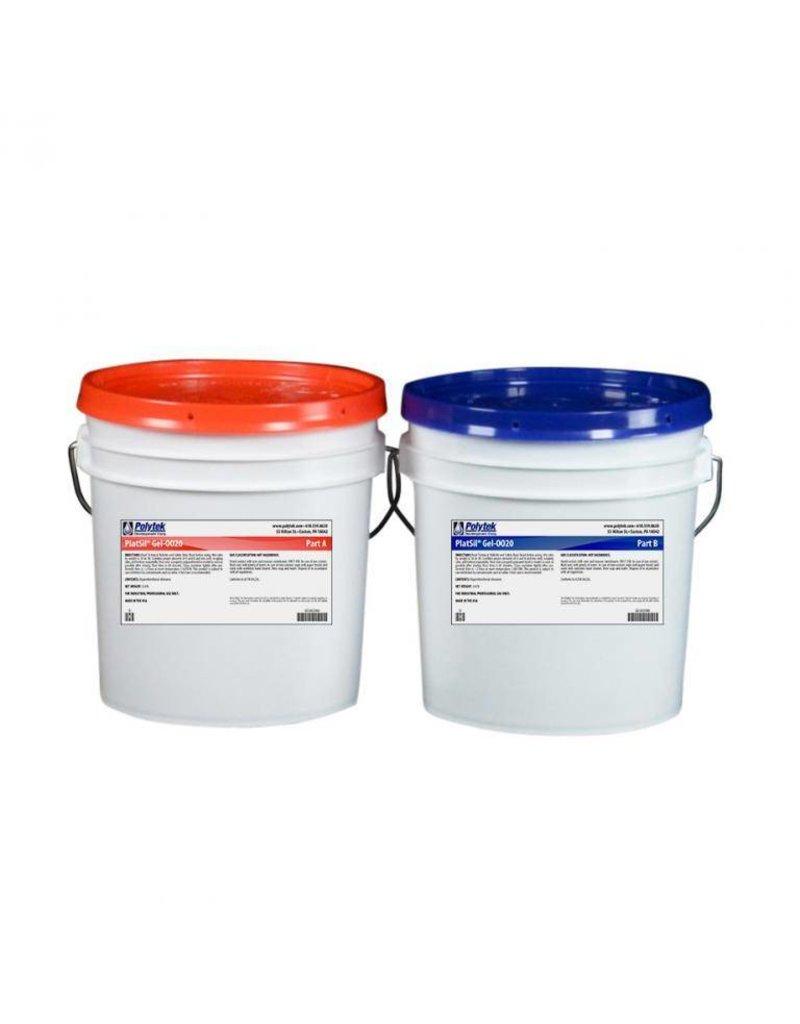 Polytek PlatSil Gel 0020 2 Gallon Kit (16lb)