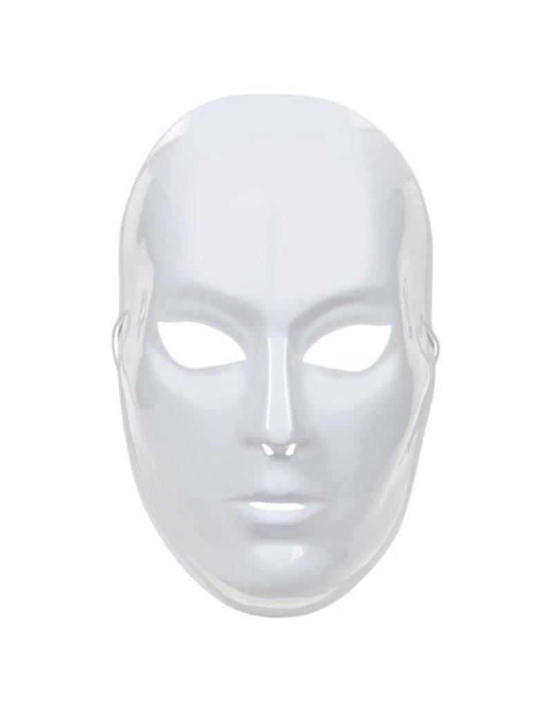 Darice Plastic Full Face Mask - White