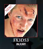Woochie Latex 3D FX Makeup Kit Injury