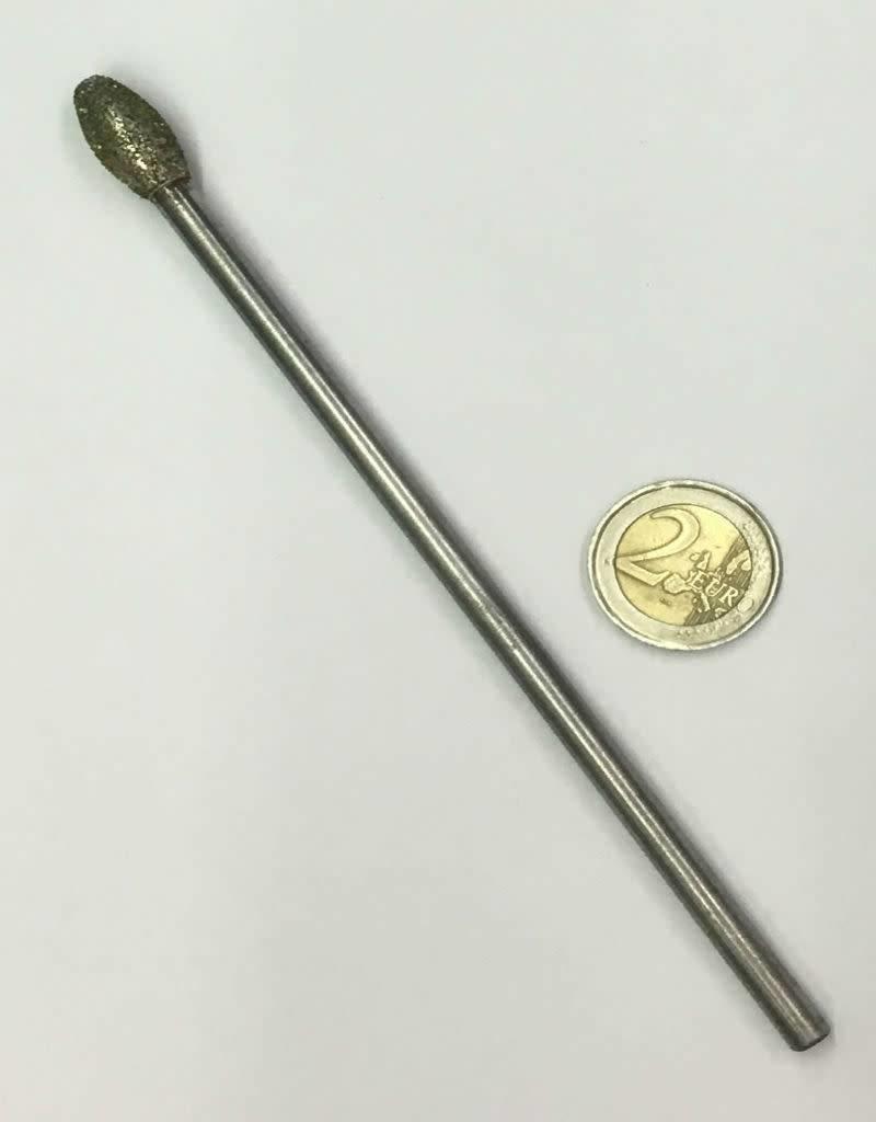 Just Sculpt Diamond Burr Flame 10mm -150mm Long Shaft