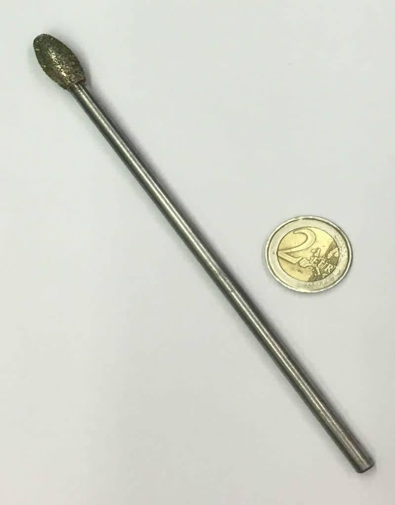 Diamond Burr Flame 10mm -150mm Long Shaft