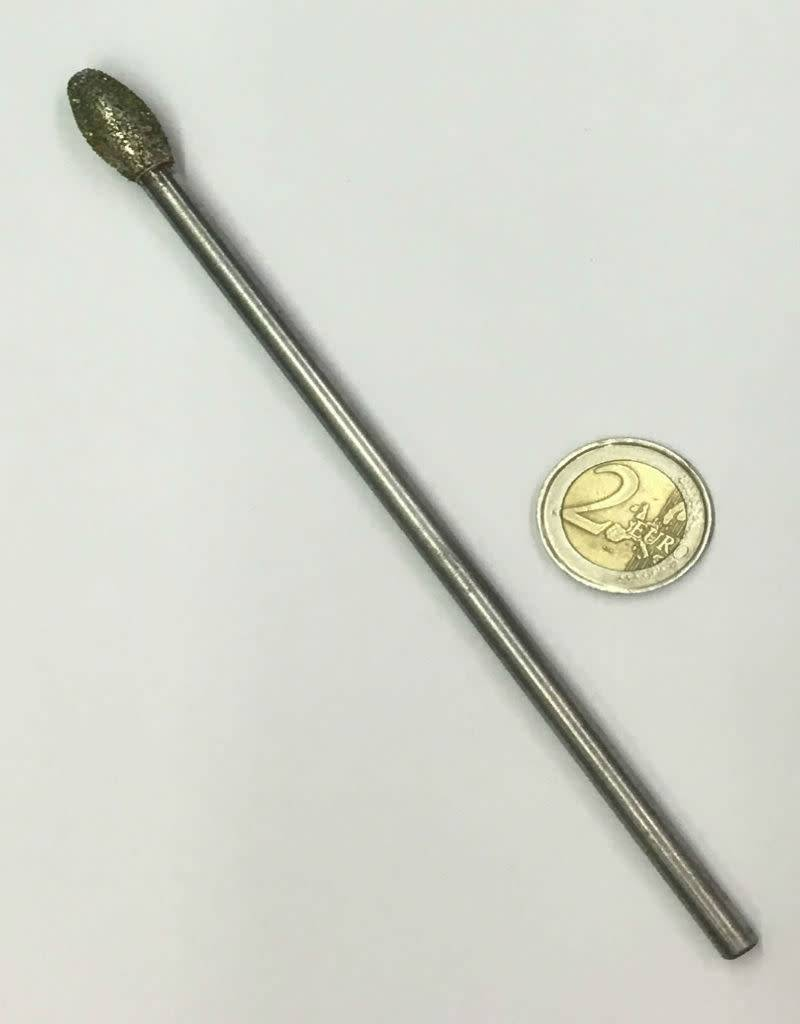 Just Sculpt Diamond Burr Flame 10mm -150mm Long Shaft