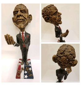 "Obama Sculpture ""Spare Change"""