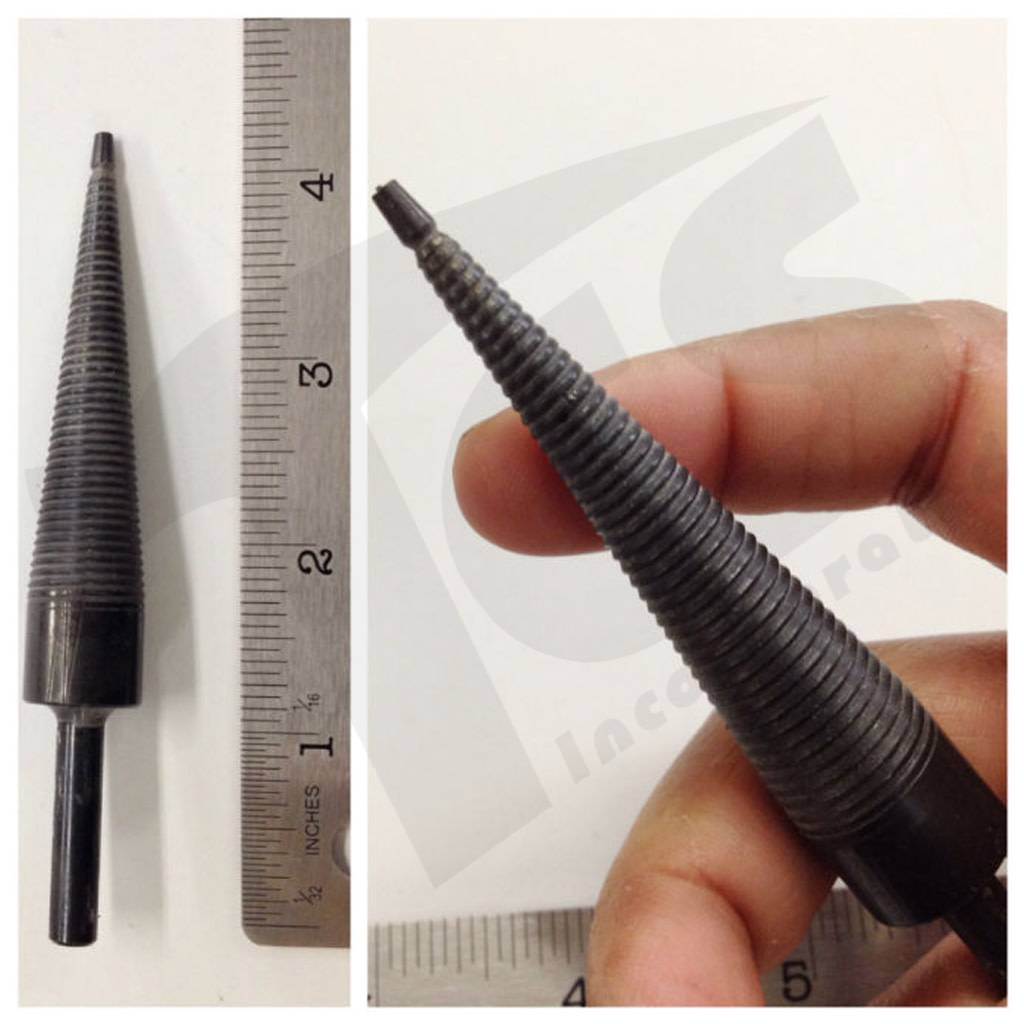 "4-1/4"" Cone Point Mandrel (1/4'' shank) CPM-9"