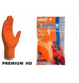 Gloveworks Nitrile HD Orange Gloves 6 pack
