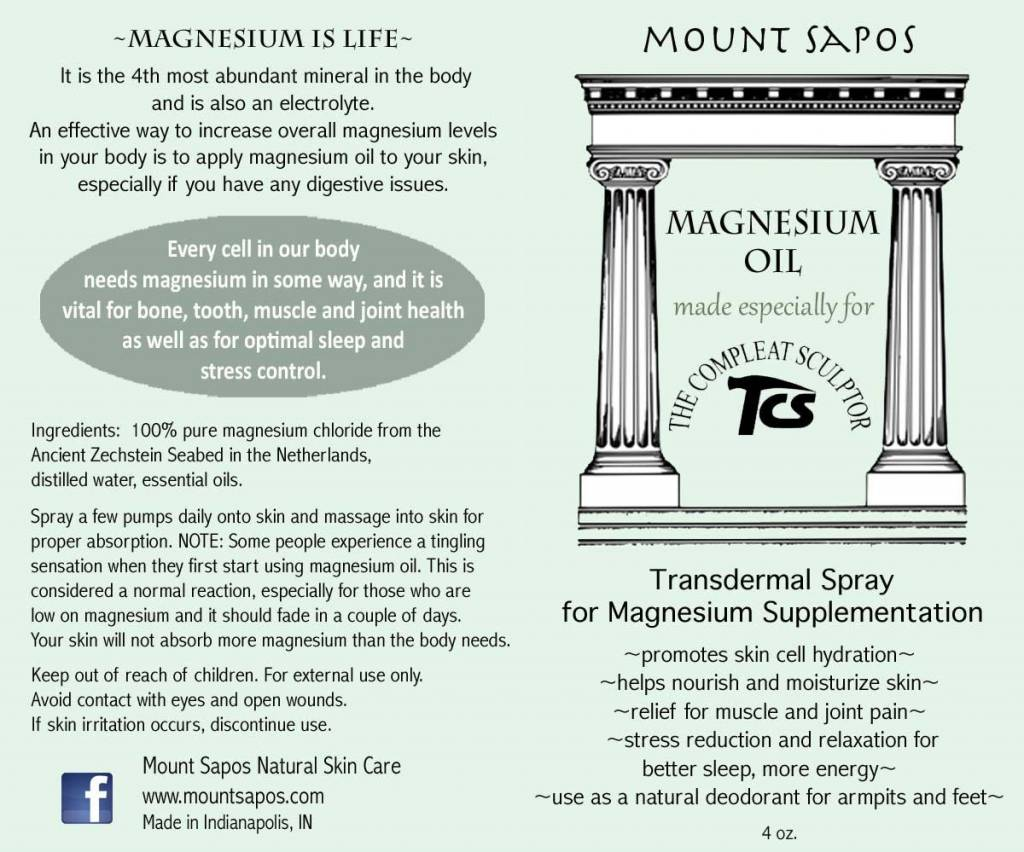 Mount Sapos Magnesium Oil Rub 4 oz.