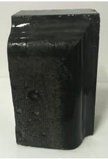 Stone 46lb Belgian Black Marble 12x7x6 #001001