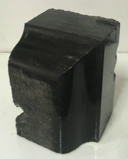Stone 31lb Belgian Black Marble 9x6x6 #001003