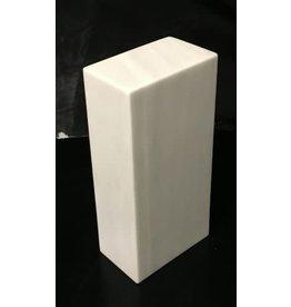 Just Sculpt Marble Base 10x4.75x3 White Carrara #991016