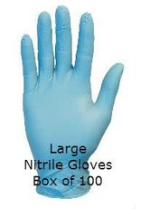 Gloveworks Nitrile Gloves Blue Powdered Large Box