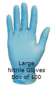 Gloveworks Nitrile Gloves Blue Powdered Large Box